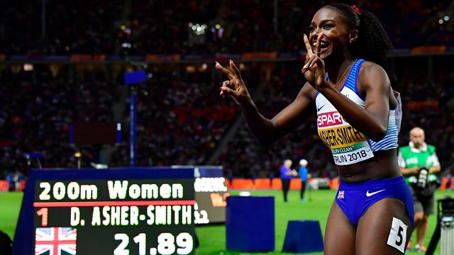 Asher-Smith completes European sprint double with stunning performance