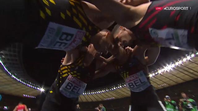 Relais 4x400m : Les Français au pied du podium, la Belgique titrée