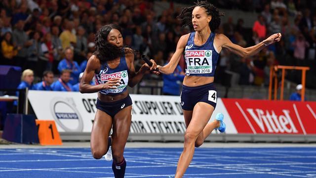 Les Bleues en argent derrière la Pologne sur le relais 4x400m