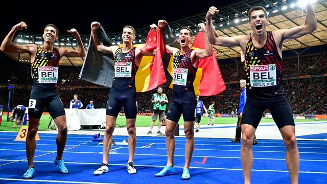 Deutsche 4x400-m-Staffel verpassen Medaillen klar