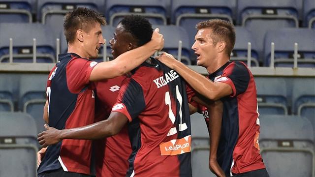 Un super Piatek fa volare il Genoa, il Benevento sorprende l'Udinese