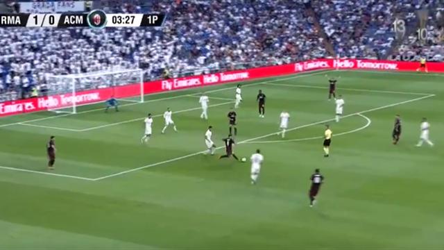 Игуаин первым же ударом за «Милан» забил «Реалу» и заставил «Бернабеу» заметно притихнуть