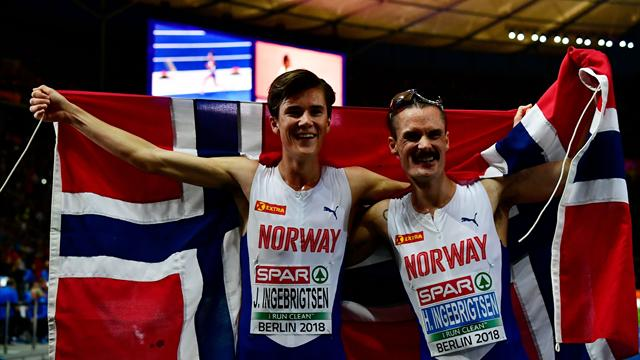Jakob strikes gold again in Ingebrigtsen family double