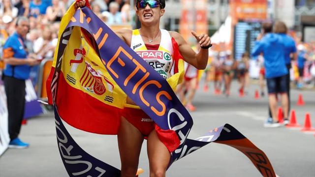 María Pérez campeona de Europa de 20 km marcha