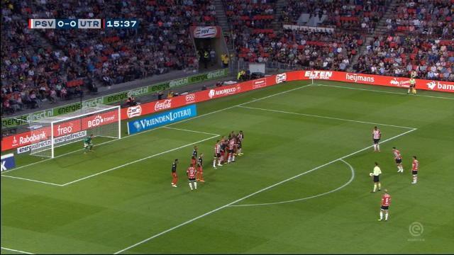 Pays-Bas - Le coup franc splendide de Pereiro pour le PSV