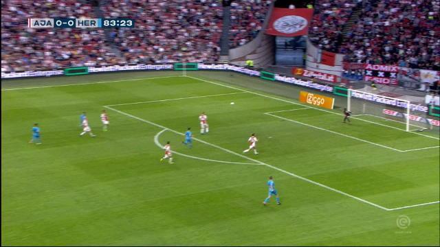 Pays-Bas - L'ouverture du score superbe de Peterson pour Heracles contre l'Ajax