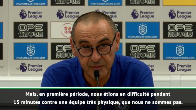 """Chelsea - Sarri : """"En difficulté contre une équipe très physique"""""""