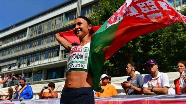 Volha Mazuronak, maratonda Avrupa şampiyonu