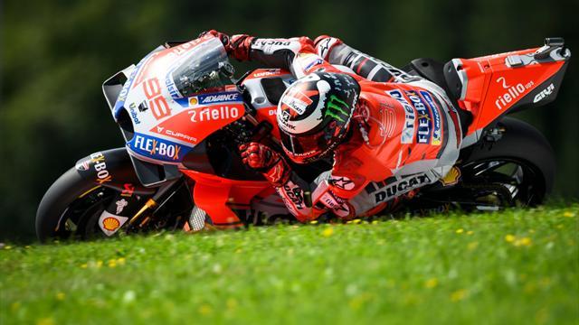 Lorenzo defeats Marquez in late Austria battle