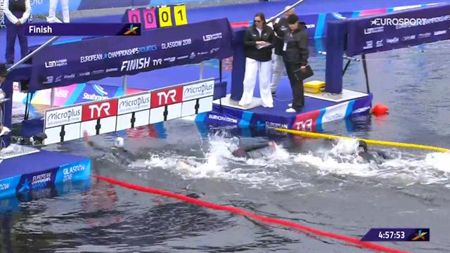 Matteo Furlan bronzo nella 25 km in acque libere: riguarda la volata finale per il podio