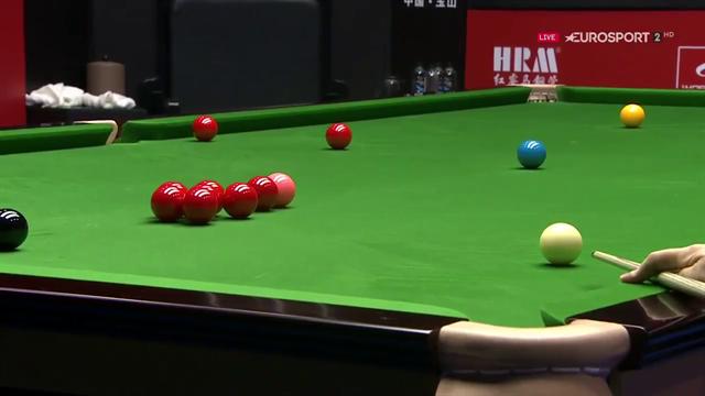 So spielt ein Weltmeister: Williams mit dem Stoß des Turniers