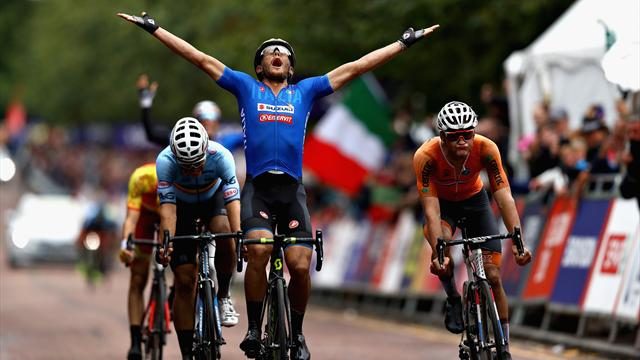 Matteo Trentin triumphs for Italy in treacherous road race
