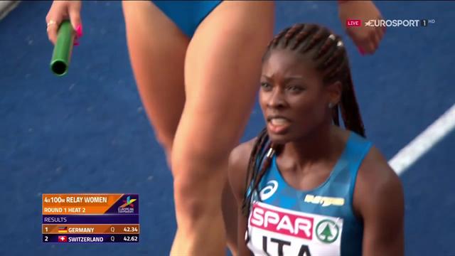 Audrey Alloh trascina l'Italia in finale nella 4x100 femminile