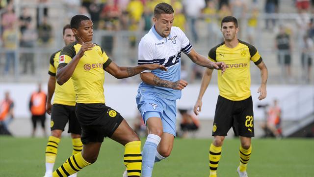 Lazio imballata e sterile: il Borussia Dortmund si impone 1-0. Si salva Milinkovic-Savic