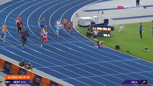 Les Bleus en finale du relais 4x100m, l'Allemagne à terre