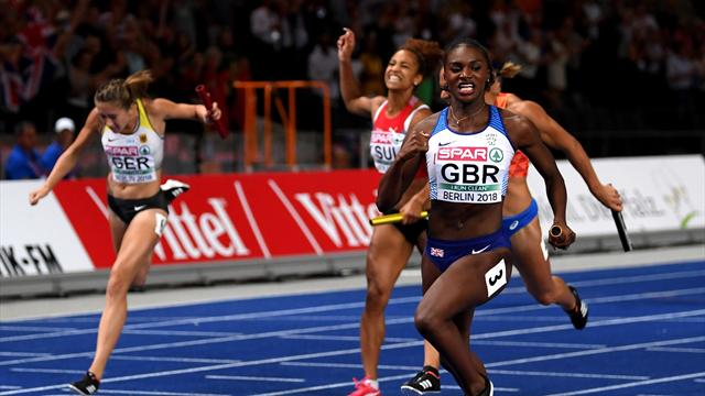 Asher-Smith lands third gold with brilliant anchor leg in 4x100m relay