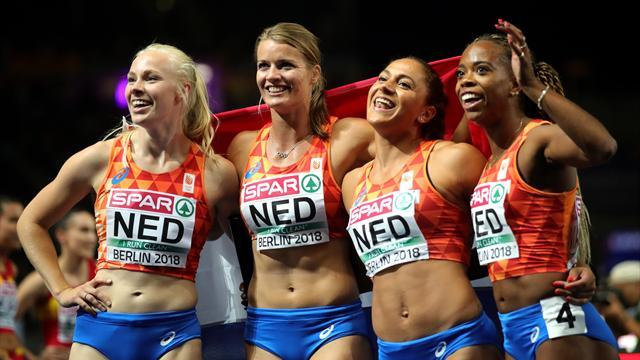 Shining silver! Nederlandse estafettevrouwen sprinten ijzersterk naar EK-zilver