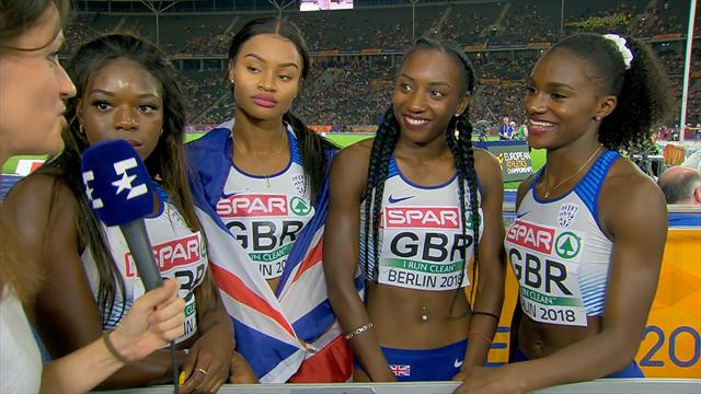Dina Asher-Smith: I am just happy we got the baton round safely