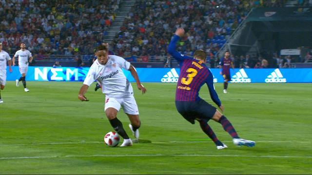 Sarabia batte ter Stegen e mette in ginocchio il Barça: primo gol convalidato con la VAR