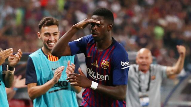 Dembele thunderbolt wins Spanish Super Cup for Barcelona