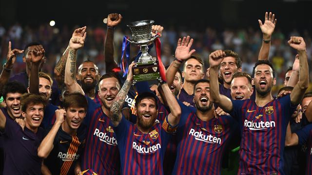 Sassata di Dembélé e il Barcellona conquista la Supercoppa: 2-1 al Siviglia, record per Messi