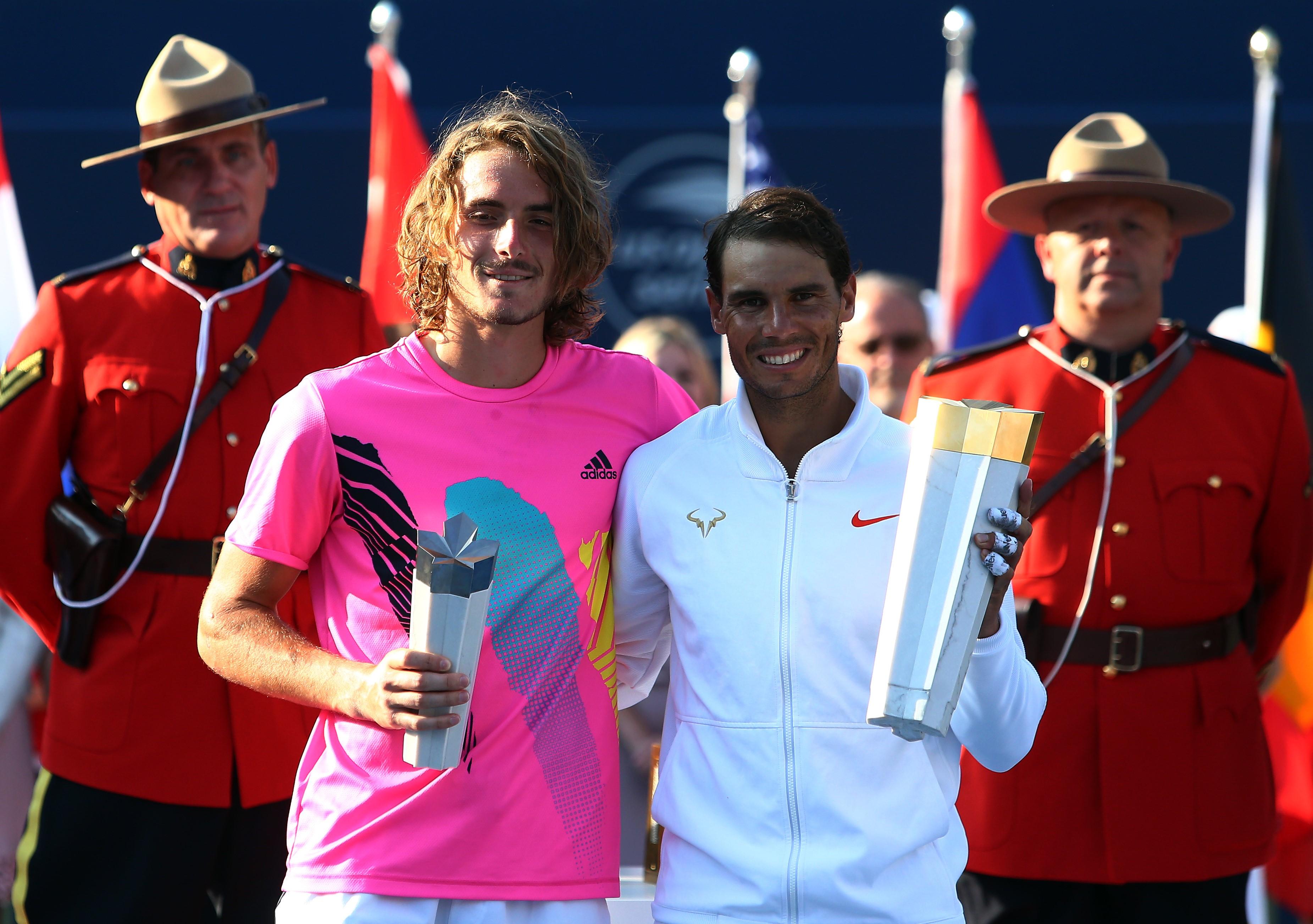 Stefanos Tsitsipas et Rafael Nadal