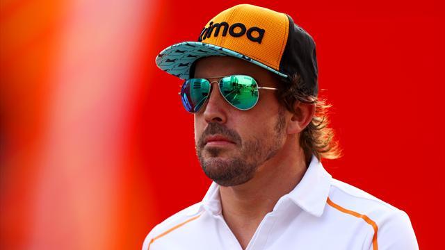 Fernando Alonso au départ d'Indy 500 avec McLaren en 2019