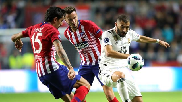 «Атлетико» обыграл «Реал Мадрид» вматче заСуперкубок UEFA