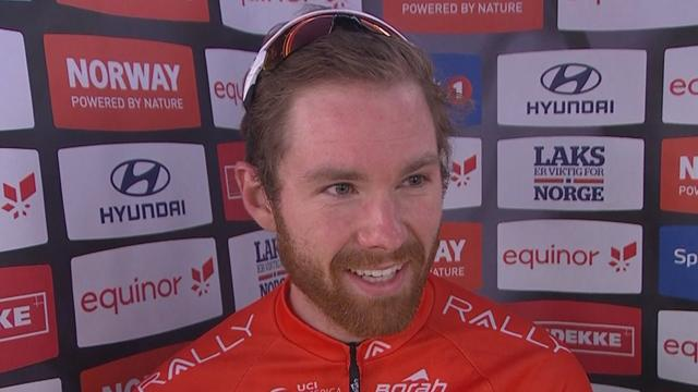 Colin Joyce rejoices in Stage 2 victory at Arctic Race of Norway