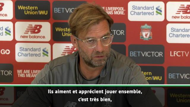 """Liverpool - Klopp : """"Salah, Mané et Firmino ne sont pas en compétition"""""""