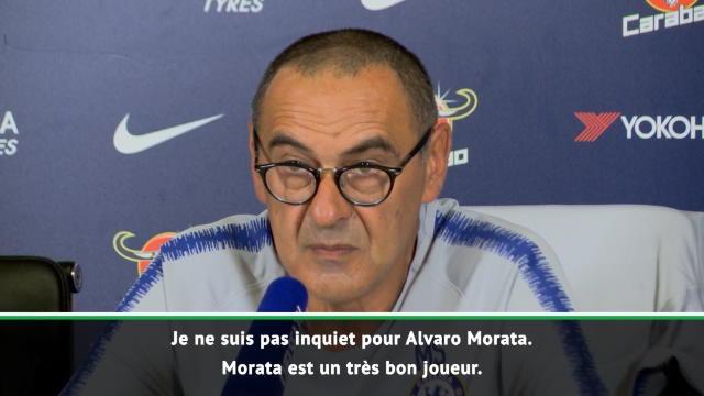 Chelsea - Sarri n'est pas inquiet pour Morata