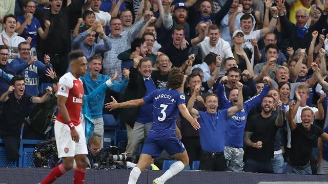 Chelsea-champagne: 3-2 all'Arsenal in un derby stratosferico e Sarri già in cima alla Premier