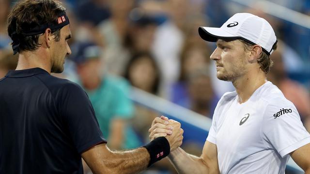 Goffin jette l'éponge, Federer rejoint Djokovic
