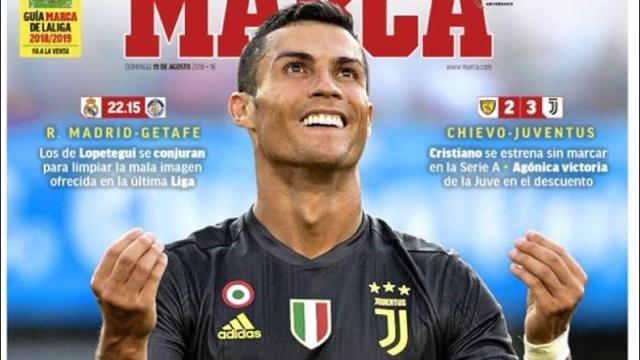 Il debutto di Cristiano Ronaldo sulle prime pagine, italiane e internazionali