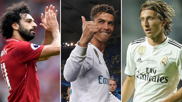 Salah, Ronaldo, Modric up for UEFA award