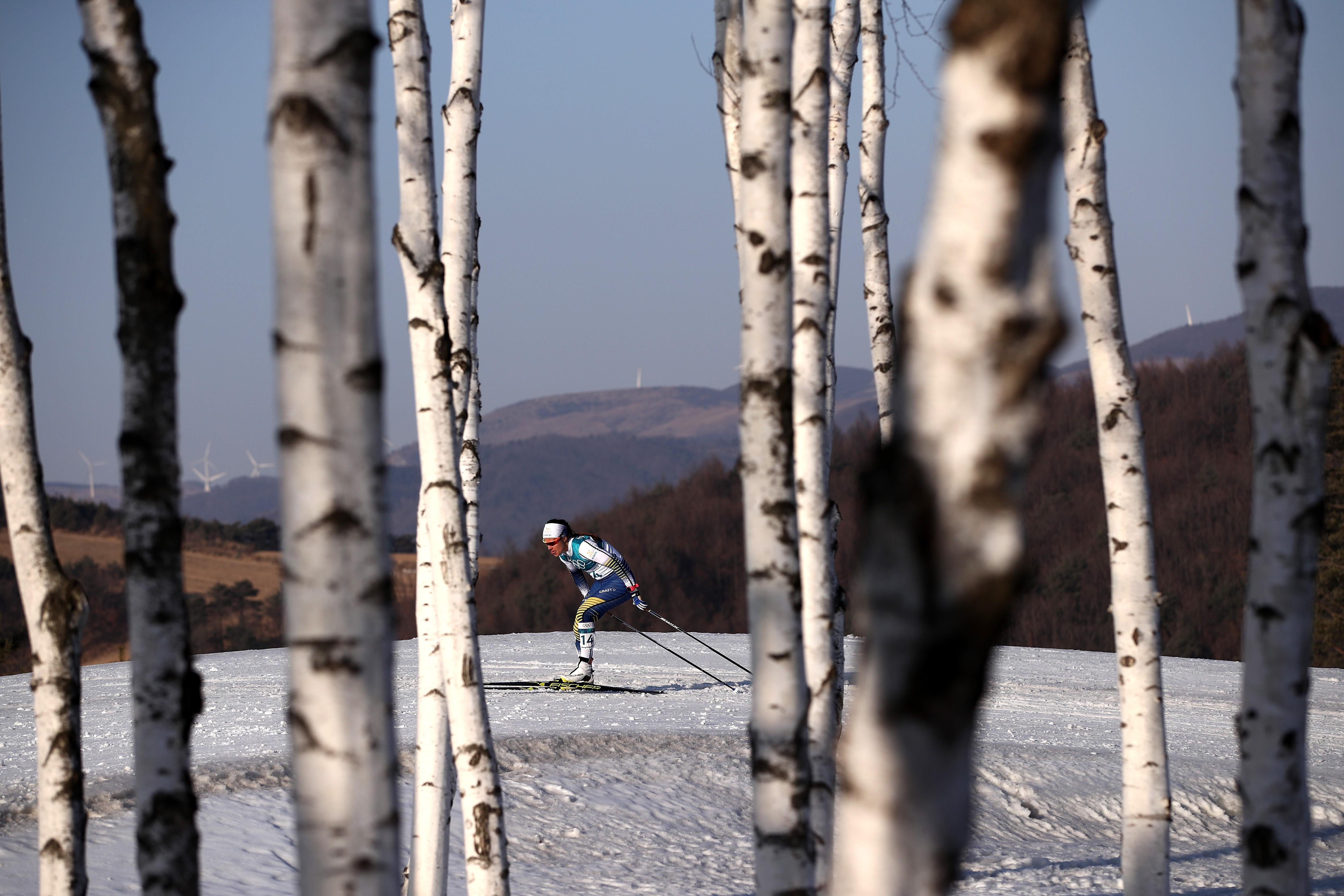 Anna Haag under OS i Sydkorea