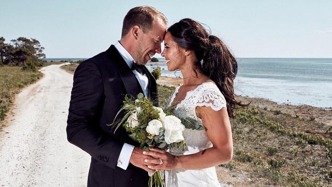 Anna och Emil gifte sig på Gotland i somras