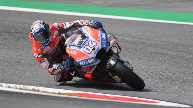 MotoGp: Dovizioso comanda le prime libere, Marquez 13° e Rossi 15°
