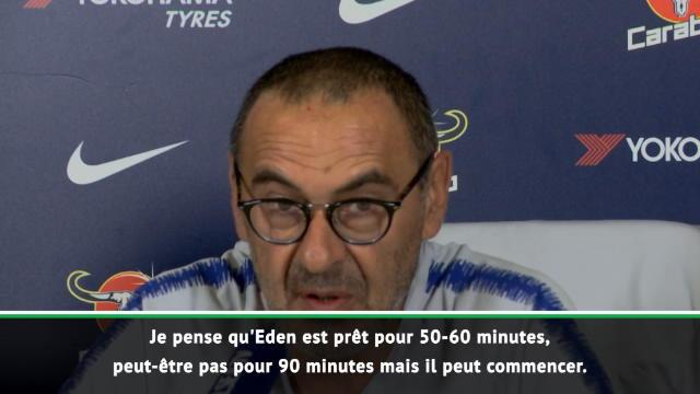 Sarri : «Hazard restera avec nous toute la saison»