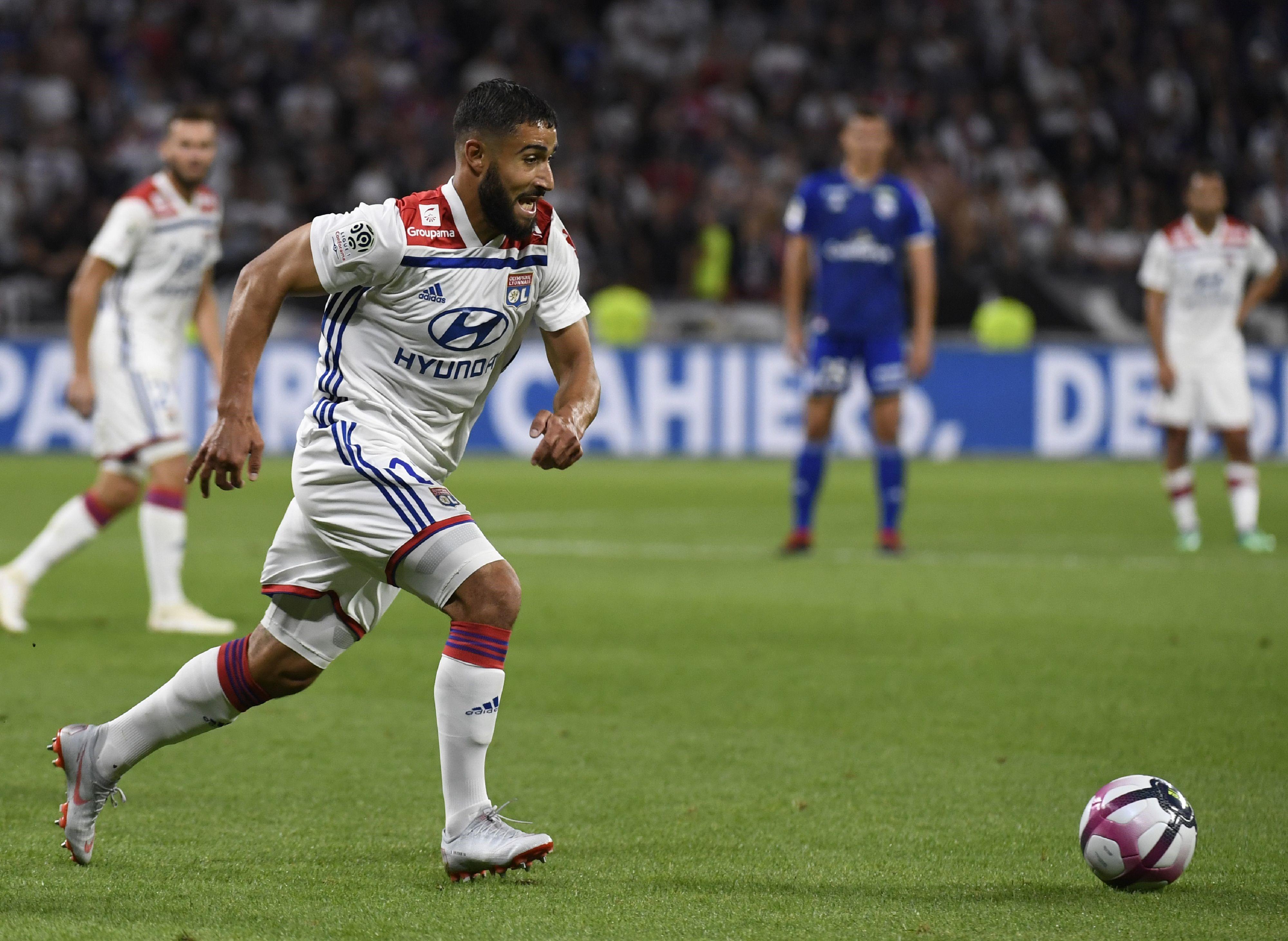 Nabil Fekir lors de Lyon - Strasbourg / Ligue 1