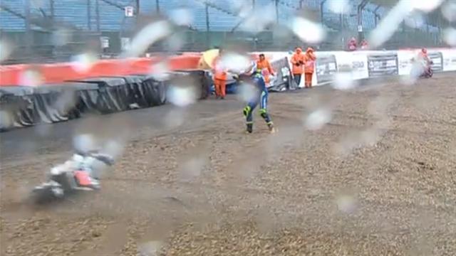 Chaos à Stowe : Rins se jette de sa machine, Rabat percuté par celle de Morbidelli
