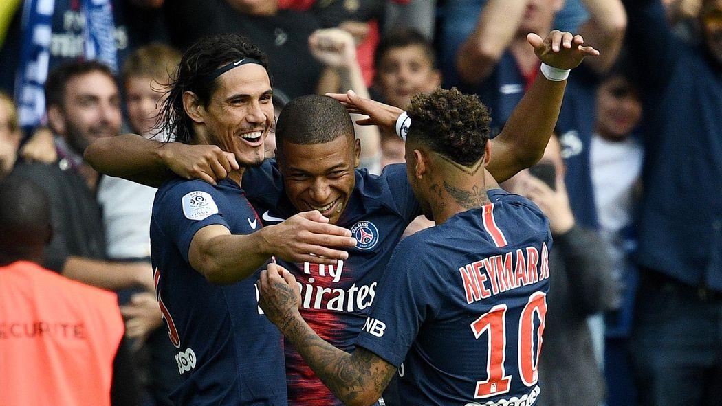 Ligue 1 Edinson Cavani Kylian Mbappe And Neymar All Score As Psg