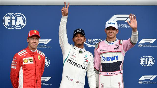 Ocon, qualifié troisième, pas sûr de rester en F1 mais soutenu par Hamilton et Vettel