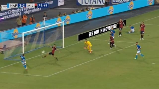 «Наполи» победил «Милан», проигрывая 0:2 походу встречи