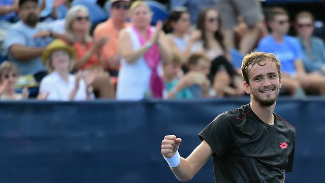 Medvedev beats Johnson for Winston-Salem title