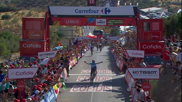 Эпичный финиш второго этапа: Вальверде съел Квятковского на последних метрах