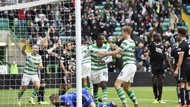 Brendan Rodgers reacts to Celtic fans' Dedryck Boyata protests