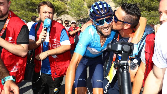 f747c566d Alejandro Valverde of Spain and Movistar Team   Celebration   during the  73rd Tour of Spain