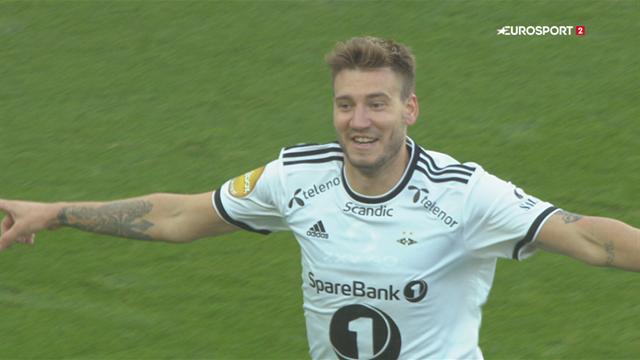 Highlights: Bendtner og Mike Jensen på tavlen i Rosenborg-sejr