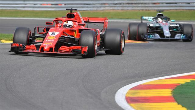 Belçika'da zafer Vettel'in